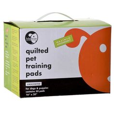 Lola Bean Quilted Pet Training Pads offers maximum absorbency. Pet training pads are used as a training aid for puppies or older dogs. Made of an advanced technology polymer that absorbs and traps liquid, sealed edges and leak-proof backing protects floors from wetness and provides easy clean-up