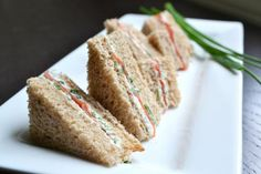 Try out the alltoasty.com recipe for Smoked Salmon Tea Sandwiches!