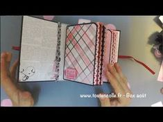 tutoriel réaliser un mini album et sa reliure scrapbooking - YouTube
