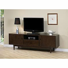 @Overstock - Update your living room with this sturdy entertainment center furniture. Featuring a drawer, side door compartments and an open shelf, you can easily store your personal effects. The dark walnut finish allows it to fit a variety of interiors.http://www.overstock.com/Home-Garden/Lawrence-Entertainment-Center/4273819/product.html?CID=214117 $414.99