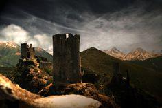 Cathar ruins, southern France Châteaux de Lastours www.audetourisme.com