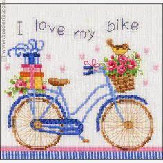 Pretty Cute Bike Cross Stitch