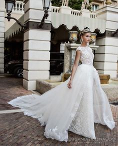 Alessandra Rinaudo 2017 bridal cap sleeves boat neckline lace embellished bodice romantic sheath wedding dress ball gown a  line train lace back long train (bibi) mv #bridal #wedding #weddingdress #weddinggown #bridalgown #dreamgown #dreamdress #engaged #princess #ballgown #romantic #lace #inspiration #bridalinspiration #weddinginspiration #weddingdresses