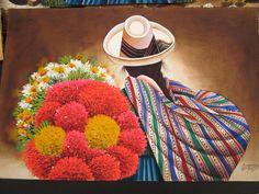 Peruvian Art | Global Talent Project                                                                                                                                                      More Guatemalan Art, Mexican Paintings, Peruvian Art, Feather Drawing, Southwestern Art, Art Friend, Painting People, Indigenous Art, Mexican Folk Art