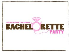 Free, Printable Bachelorette Party Invitations the Girls Will Love: Firefly Events' Free Bachelorette Party Invitations