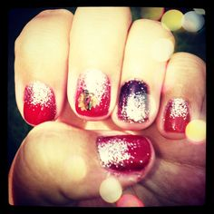 #blackhawk @Red Carpet Manicure no chip for the @Chicago Blackhawks convention!