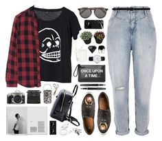 """""""no one's here to sleep"""" by bluevelvetmoon ❤ liked on Polyvore featuring River Island, Cheap Monday, rag & bone, Sunday Somewhere, Marc Jacobs, TokyoMilk, Nikon, Givenchy, RED Valentino and Coach House"""