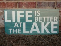 Life is Better at the Lake wood sign  Hand di ExpressionsWallArt