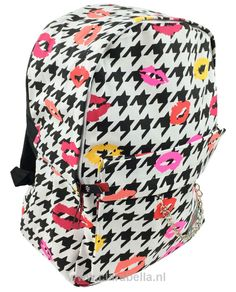 Color Kisses On White Mix Rucksack  Price: €19.95  http://www.clarabella.nl/accessories/bags/rucksack/mix/color-kisses-on-white-mix-rucksack/   15% discount on EVERYTHING in our store. Sign up here to receive your personal discount code:http://eepurl.com/boSy7H