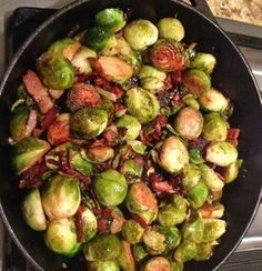 Brussels sprouts with bacon and balsamic recipe All recipes UK Veggie Recipes, Vegetarian Recipes, Snack Recipes, Cooking Recipes, Healthy Recipes, Kitchen Queen, Good Food, Yummy Food, Sprouts With Bacon