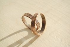 Engraved His & Hers Promise Rings Couple Ring Set Personalized Ring Set Rustic Leaf Organic Alternative Engagement Ring, Copper Wedding Band by JD4dreamer on Etsy https://www.etsy.com/listing/280281260/engraved-his-hers-promise-rings-couple