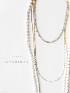 Lovely Layering Necklaces by Tess+Tricia {natural stone beaded necklaces ethically manufactured with a heart in MN}