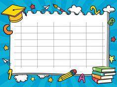 Ωρολόγια προγράμματα μαθημάτων - Ψηφιακή Τάξη Back To School Images, Timetable Template, Weather Lessons, School Border, School Timetable, Classroom Birthday, Birthday Charts, School Frame, School Labels