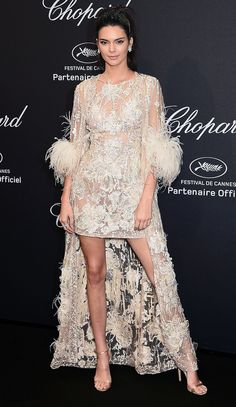 All the Glamour, Glitz and Gowns from the Cannes 2016 Red Carpet | People - Kendall Jenner in a lace Elie Saab dress