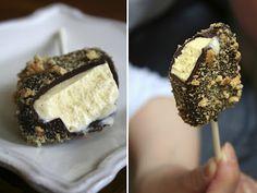 Mini Cookie Crumb Ice Cream Bars