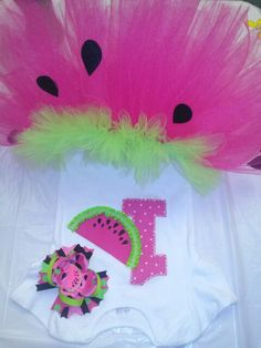 Watermelon 1st birthday outfit from Zoe's Boutique!   $30    https://www.facebook.com/zoes.boutique.bows