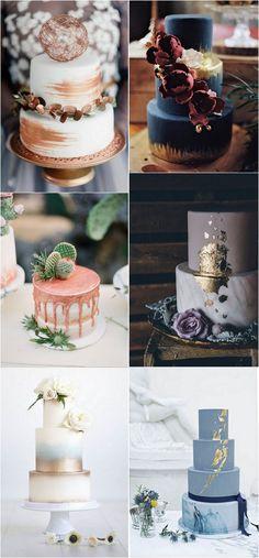 trending metallic wedding cakes #wedding #weddingideas #weddingcake