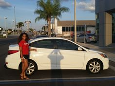 """""""I had a very smooth experience with Lakeland Hyundai. Thank you Kenny (Swartz) for your help!"""" No, thank you Miriam Woodard! We hope you are enjoying your brand new 2014 Hyundai Accent and please, if there's anything we can do, don't hesitate to ask.. We're here to help! #LakelandAutomall #LakelandHyundai #HyundaiAccent #2014Accent #Accent #Hyundai"""
