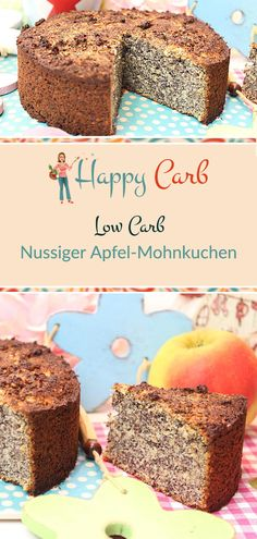 Nutty apple poppy seed cake - happy carb recipes - Nutty apple and poppy seed cake. Apple, nut and poppy seeds. A great trio. Low carb, no carbohydrat -