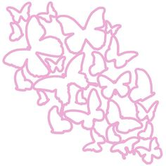 Butterfly Background Cut File .SVG .DXF .PNG