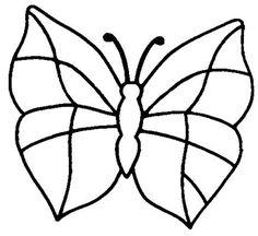 risco de borboletas para pintura em tecido