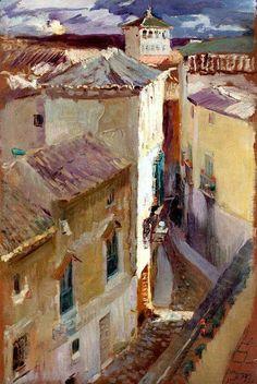 Joaquín Sorolla y Bastida (1863-1923) - A street in Toledo (1906)
