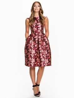 Rose Jaquard Dress - Miss Selfridge - Red - Party Dresses - Clothing - Women - Nelly.com