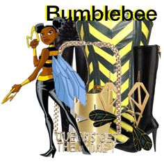 Bumblebee from Teen Titans Teen Titans Outfits, Batman Outfits, Teen Titans Go, Disney Outfits, Cartoon Outfits, Rock Outfits, Emo Outfits, Cute Costumes, Halloween Costumes