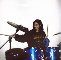 Girl Drummer, Female Drummer, Music Aesthetic, Aesthetic Girl, Roller Derby, Drums Pictures, Hyun Kyung, Drums Girl, Picsart