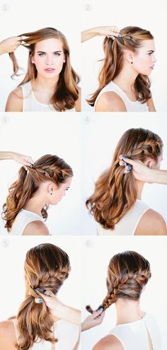 side french braid tutorial for 2014 by clip on brown long human hair extensions