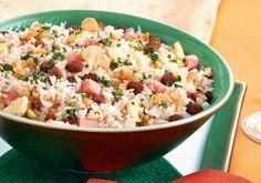 Arroz natalino Almond Joy Cookies, Churros, Flan, Carne, Potato Salad, Buffet, Bacon, Salads, Food And Drink