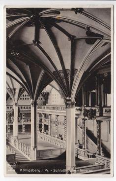 AK Königsberg i. Pr. Ostpreußen Schlosskirche Inneres 1936
