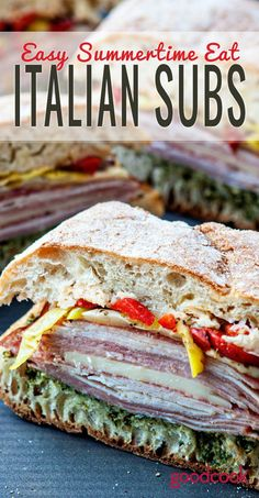Easy Summer Eat | Summertime Subs, Make ahead for a quick and easy meal that can be shared at picnics, potlucks and parties. #sandwich #picnic #hoagies #sandwichrecipe
