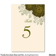 Succulent WEDDING REHEARSAL Botanical Table Number Card #succulent #wedding #table #rehearsal