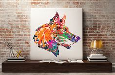 Wolf Print Wolf poster watercolor animal art by Antsartworkoffice