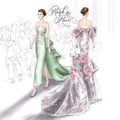 Ralph and Russo Fall 2017 Haute Couture | Illustrated by Draw A Story