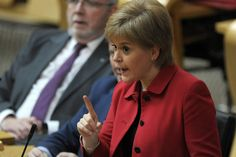 Nicola Sturgeon during a debate at the Scottish Parliament. Picture: Andy Buchanan/PA Wire