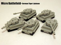 Mini Lego Tiger Tanks
