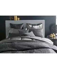 Silver Bedroom Decor, Glam Master Bedroom, Glam Bedding, Bedroom Comforter Sets, Luxury Bedding, Donna Karan, Bath, Luxurious Bedrooms, Bedding Collections