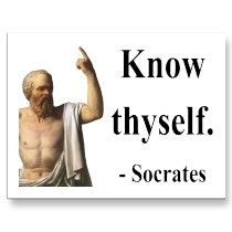 Inspirational thought: Socrates Quote: Know Thyself - another inspirational quote for you to enjoy and think about while you go about your day! Socrates Quotes, Famous Philosophers, Know Thyself, Know Who You Are, Super Quotes, Inspirational Thoughts, Introvert, True Stories, Me Quotes