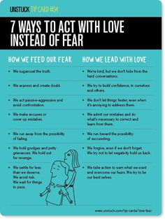 Life is complicated — but your motivation isn't. Without exception, every action we take is motivated either by love or by fear. Here are some tips to help you show up with love