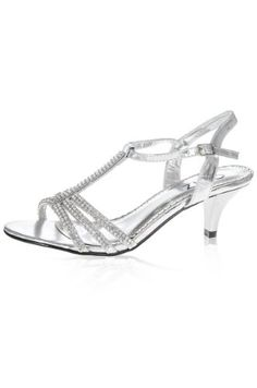 Womens Ladies White Diamante Low Wedge Heel Strap Summer Sandals ...