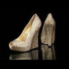 Shoe of the Week – Blinging with Benjamin Adams #Bridaltribe #Wedding #Shoes #Brides