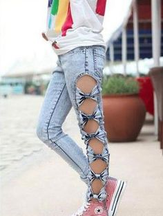 Bow Jeans.