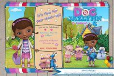 Doc Mcstuffins Birthday Invitation - Disney Junior Doc Mcstuffins Party Invite