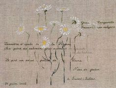 Daisies. A design by Marie-Therese Saint Aubin