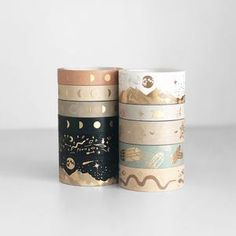 Washi Tape Set, Masking Tape, Lunar Magic, Cute Stationery, Stationary, Bullet Journal Mood, Cute Planner, Pen And Paper, Scrapbook Cards