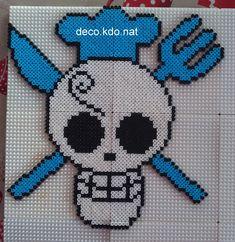Sanji One Piece hama perler beads by Deco.Kdo.Nat
