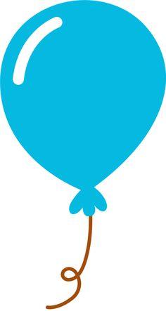 balloon orange clip art cricut and scrapbooking rh pinterest com Blue Birthday Hat Clip Art birthday clip art borders free images