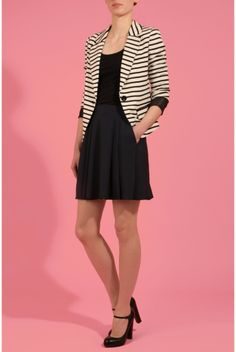 Soaked In Luxury Eden-Jack Striped Blazer - Coats & Jackets - Clothing - Womenswear